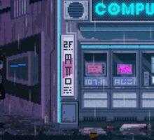 Computer Corner Pixel Art by Valenberg Sticker