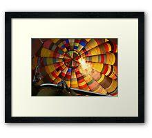 Technicolour Flight - with heat Framed Print