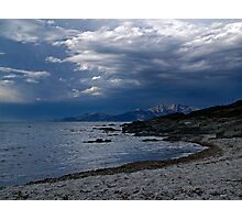 Salécia and the mountain of Cap Corse Photographic Print