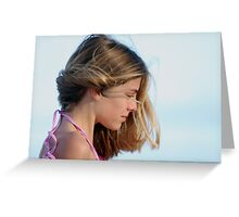 Portrait of a Young Girl Greeting Card