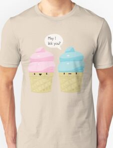 "Ice Cream Cones ""May I lick you"" T-Shirt"