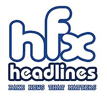 HFX Headlines - Fake Fashion Is In Photographic Print