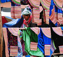 Skirt Seller at Bac Ha Market by AnnieD