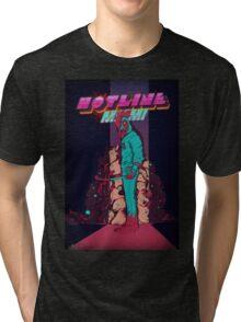Hotline Miami Jackets Slaughter  Tri-blend T-Shirt