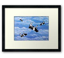 Falling Cows Framed Print