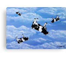 Falling Cows Canvas Print
