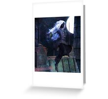 The Night has Teeth Greeting Card