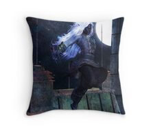 The Night has Teeth Throw Pillow