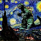 Godzilla versus Starry Night by KAMonkey