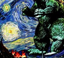 Godzilla versus Starry Night Sticker