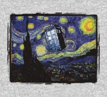 The Tardis in the Starry Night One Piece - Long Sleeve