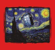 The Tardis in the Starry Night Baby Tee