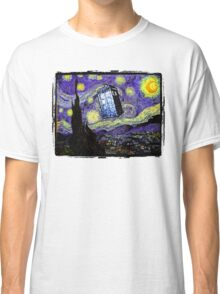 The Tardis in the Starry Night Classic T-Shirt