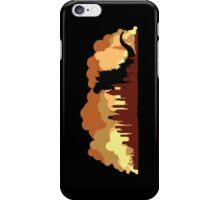Godzilla versus King Kong cityscape iPhone Case/Skin