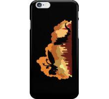 Godzilla versus Ghidorah cityscape iPhone Case/Skin