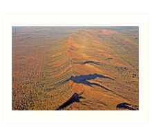 Mountain Range South of Kununurra, Western Australia (Y) Art Print