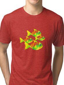 SOMETHING FISHY'S GOIN' ON AROUND HERE Tri-blend T-Shirt