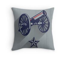 Columbus Blue Jackets Minimalist Print Throw Pillow
