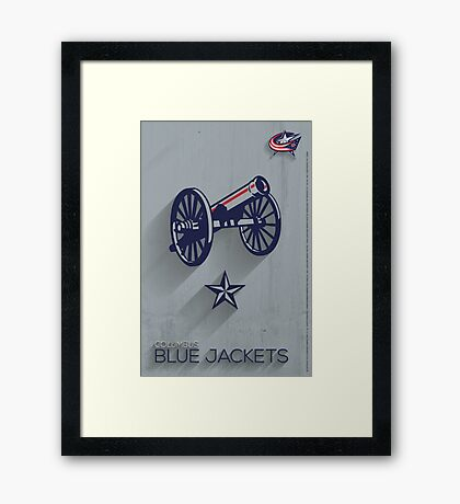 Columbus Blue Jackets Minimalist Print Framed Print