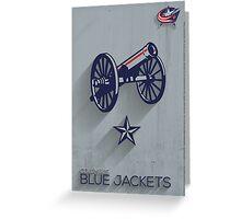 Columbus Blue Jackets Minimalist Print Greeting Card