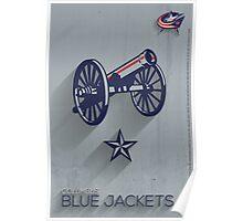Columbus Blue Jackets Minimalist Print Poster