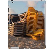 beach chairs iPad Case/Skin