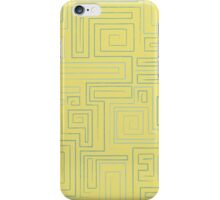 Retro Maze Pattern iPhone Case/Skin