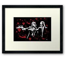 """Darth Vader - Say """"What"""" Again! Version 2 (Blood Splatter) Framed Print"""
