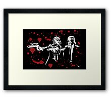 "Darth Vader - Say ""What"" Again! Version 2 (Blood Splatter) Framed Print"