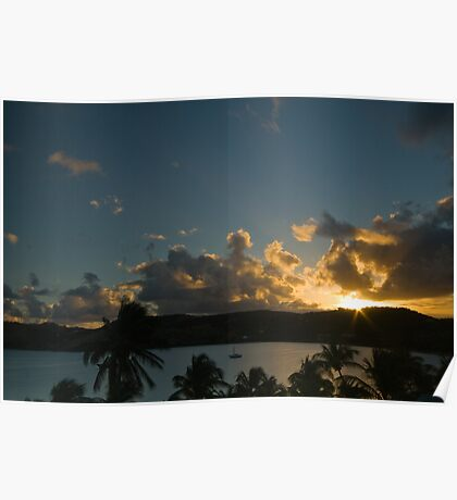 Carribean sunset Poster