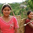 Nepali Girls by David Reid