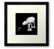 R2D2 - RUN! AT-AT Version Framed Print
