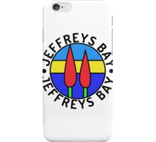 JeffreysBay.com logo, black border, black text iPhone Case/Skin