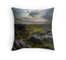 Malham Cove - Yorkshire Dales Throw Pillow