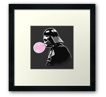 Bubblegum bubble - Vader Style Framed Print