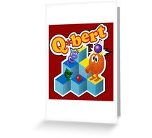Q*Bert Logo Greeting Card