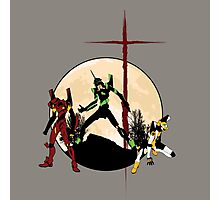 Neon Genesis Evangelion - Hill Top Photographic Print