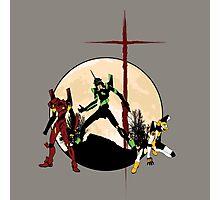 Neon Genesis Evangelion - Hill Top Photographic Print