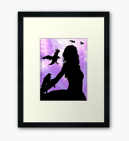 Raven Lady Framed Print