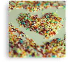 Sprinkles Heart Canvas Print
