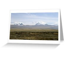 South American Landscape Greeting Card