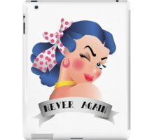 Never Again Pin-up iPad Case/Skin