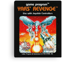 Yars' Revenge Cartridge Artwork Canvas Print