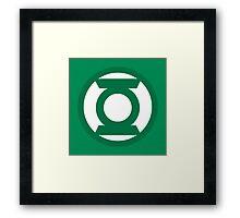 Green Lantern Logo Framed Print