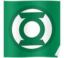 Green Lantern Logo Poster