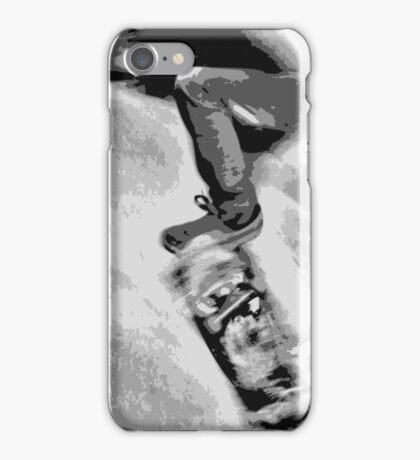 Skating the bowl, B&W iPhone Case/Skin