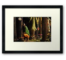 Mahut (elephant trainer) Framed Print