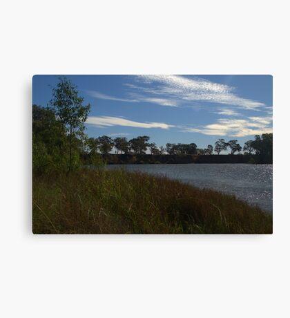 A rippled murray river Canvas Print