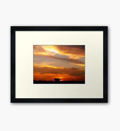 Multi Coloured Framed Print