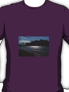 Sunlight on a bend in the river T-Shirt